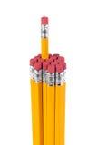 Un mazzo di matite isolate Fotografia Stock Libera da Diritti