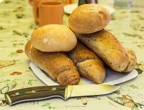 Un mazzo di panini freschi Fotografie Stock Libere da Diritti