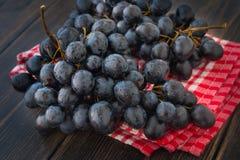 Un mazzo di uva nera bagnata, uva di inverno della montagna Fotografia Stock Libera da Diritti