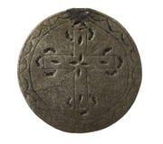 Un medaglione d'argento antico Immagini Stock Libere da Diritti