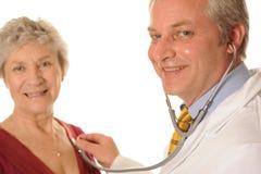 Un medico e un paziente Immagine Stock Libera da Diritti