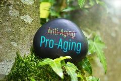 Un mejor Favorable-envejecimiento que antienvejecedor fotografía de archivo
