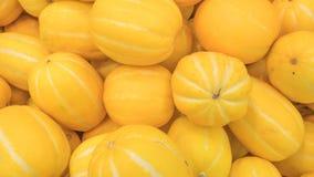 Un melón amarillo hermoso encontrado en el centro comercial foto de archivo libre de regalías