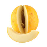 Un melon et une partie d'un melon Photographie stock