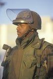 Un membro della protezione nazionale Fotografie Stock Libere da Diritti