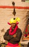 Un membro di tribù indiano del ballerino Fotografia Stock Libera da Diritti