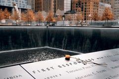 Un memoriale di 9-11-2001 Immagine Stock