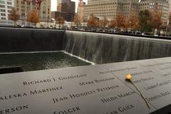 Un memoriale di 9-11-2001 Fotografie Stock Libere da Diritti
