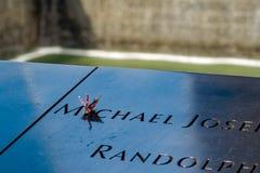 Un memoriale di 11 Septemberin New York Fotografia Stock Libera da Diritti