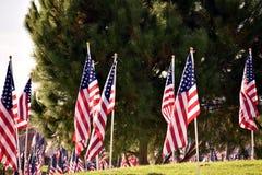 Un memoriale per i veterani in un parco della città Fotografia Stock