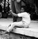 Un mendicante della via fotografie stock