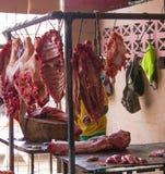 Un mercado de carne rural en Cuba fotos de archivo libres de regalías