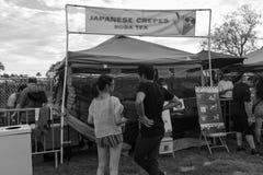 Un mercato in bianco e nero di 626 notti, arcadia, California fotografia stock libera da diritti