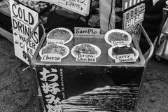 Un mercato in bianco e nero di 626 notti, arcadia, California fotografia stock