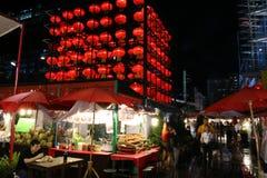 Un mercato di notte di Bangkok immagini stock libere da diritti