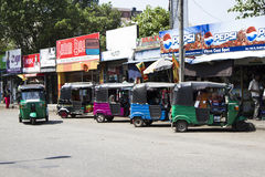 Un mercato di strada asiatico tipico, Colombo, Sri Lanka fotografie stock