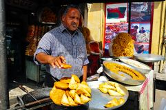 Un mercato di strada a Jaipur, India Immagine Stock Libera da Diritti