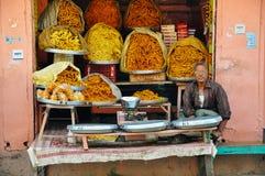 Un mercato di strada a Jaipur, India Fotografia Stock Libera da Diritti