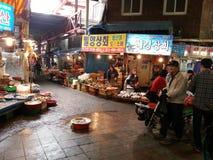Un mercato tradizionale a Busan Fotografia Stock Libera da Diritti