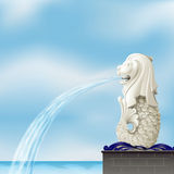 Un merlion blanco libre illustration