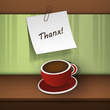 Un message indiquant Thanx ! Image stock