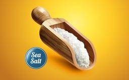 Un mestolo di sale marino illustrazione di stock