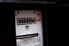 Un metro di elettricità fotografia stock