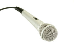 Un micrófono Imagenes de archivo