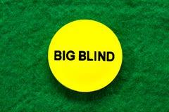 Un microprocesador ciego grande para el póker Foto de archivo libre de regalías