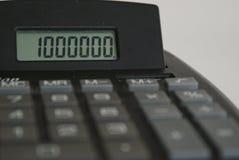 Un milione di - contabilità Immagine Stock