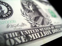 Un milione di dollari di fattura di millennio Fotografia Stock Libera da Diritti