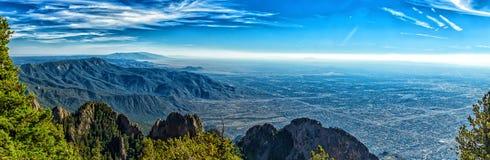 Un mille au-dessus d'Albuquerque Photos libres de droits