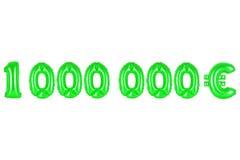 Un million d'euros, couleur verte Photo stock