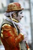 Un mime no identificado del ejecutante de la calle Foto de archivo libre de regalías