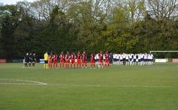 Un minuto de silencio - fútbol de Sussex Imágenes de archivo libres de regalías