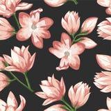 Un modèle de rose sensible et de fleur crème Épouser l'élément de conception d'abrégé sur vecteur de carte d'invitation photographie stock libre de droits