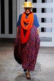 Un modèle marche la piste pendant le défilé de mode de Daniela Gregis Image stock