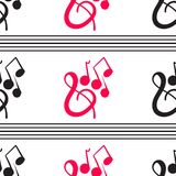Un modèle musical merveilleux sur un fond blanc Photos libres de droits