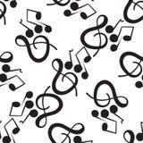 Un modèle musical merveilleux sur un fond blanc Illustration Stock