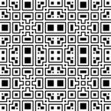 Un modèle noir et blanc élégant de vecteur, tuile carrée géométrique Images libres de droits