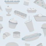 Modèle sans couture de nourriture industrielle Image stock