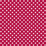 Un modèle sans couture est un grand point blanc sur un fond rouge persan Dossier de vecteur d'ENV illustration stock