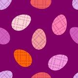 Un modèle sans couture heureux pour Pâques avec des oeufs, en couleurs, dans le vecteur, tissu de papier peint de fond Photos stock