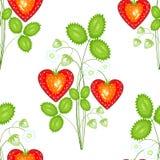 Un mod?le de fantaisie Belles fraises mûres Approprié comme papier peint dans la cuisine, comme fond pour la nourriture de emball illustration libre de droits