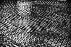 Un modello astratto in bianco e nero di progettazione di vari generi fotografia stock libera da diritti