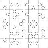 Un modello in bianco di 25 puzzle Immagine Stock