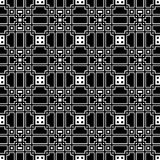 Un modello in bianco e nero elegante di vettore, mattonelle quadrate geometriche Immagine Stock