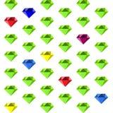 Un modello con dei i diamanti colorati multi Fotografia Stock Libera da Diritti