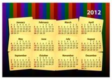 Un modello creativo dei 2012 calendari Immagini Stock Libere da Diritti