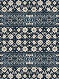 Un modello degli elementi floreali e geometrici per tappeto, lettiera Fotografia Stock Libera da Diritti